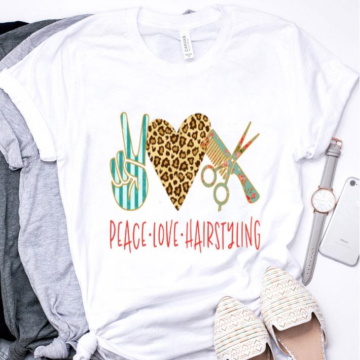 Sign Language Peace Love Hairstyling shirt
