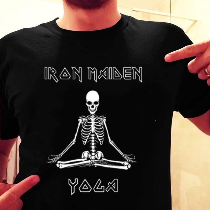 Skeleton Iron Maiden Yoga shirt