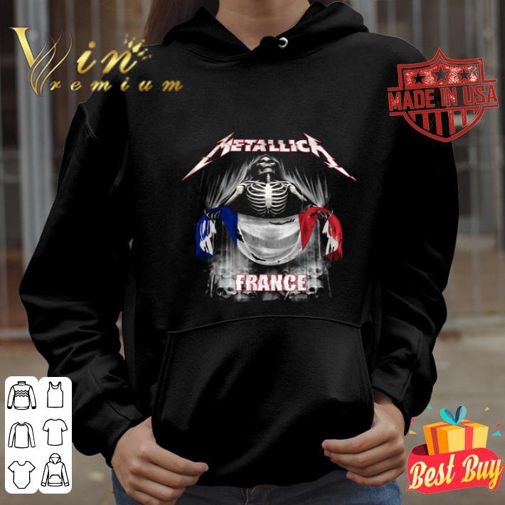 Skeleton Metallica France flag shirt