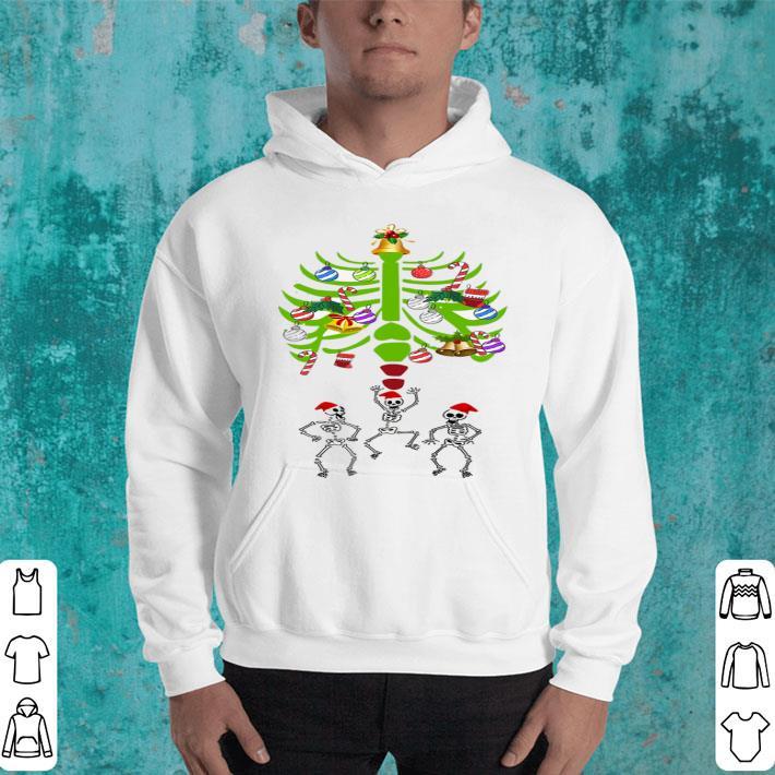 Skeleton Santa Bones Christmas Tree shirt