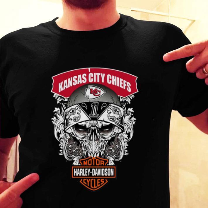 Skull Kansas City Chiefs Harley-Davidson shirt