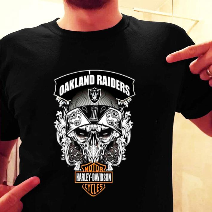 Skull Oakland Raiders Harley-Davidson shirt