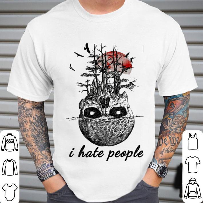 Skull tree sunset i hate people shirt