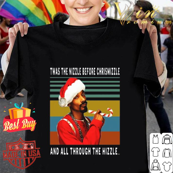 Snoop Dogg Twas the nizzle before christmizzle vintage shirt