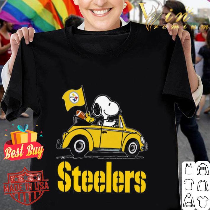 Snoopy Driving Volkswagen Pittsburgh Steelers shirt