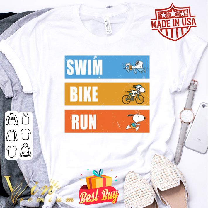 Snoopy Triathlon Swim Bike Run shirt