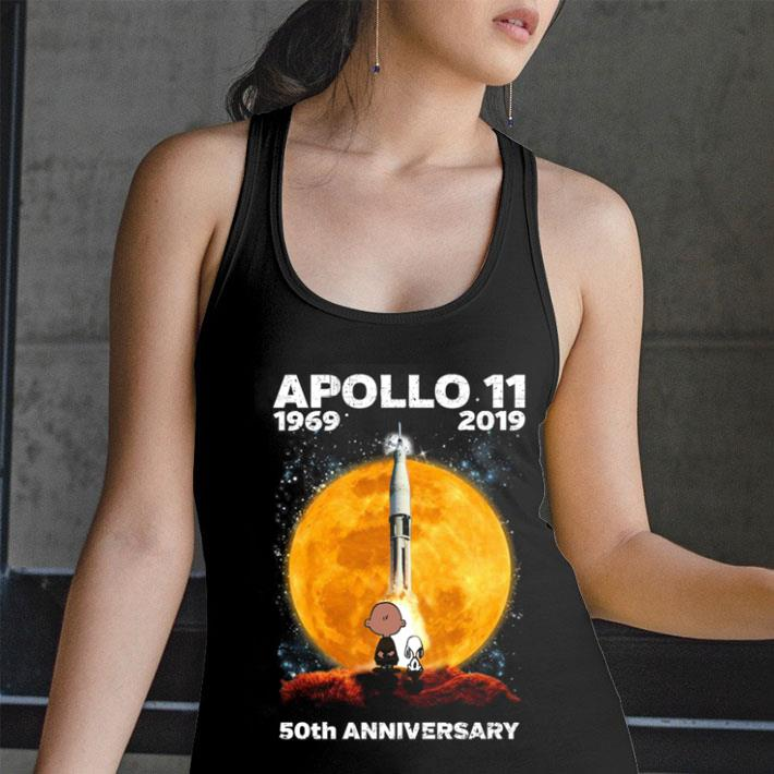 Snoopy and Charlie Brown APOLLO 11 1969 2019 50th anniversary shirt
