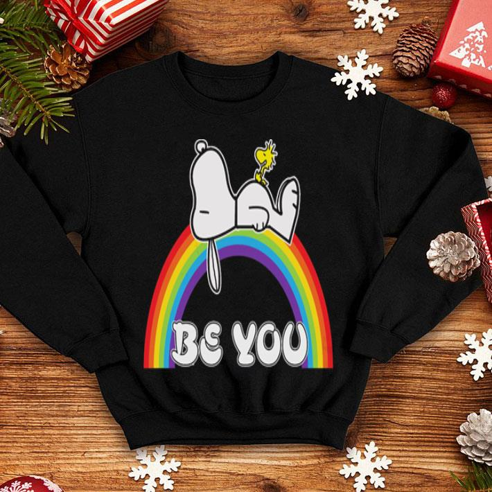Snoopy and Woodstock be you rainbow LGBT shirt