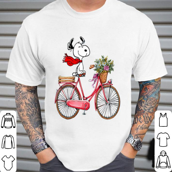 Snoopy and bicycle shirt
