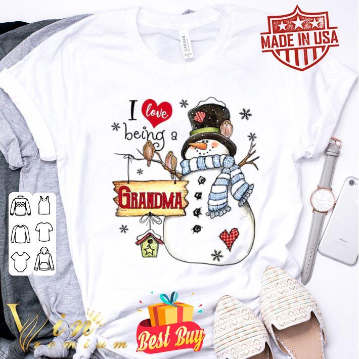 Snowman I love being a grandma Christmas shirt