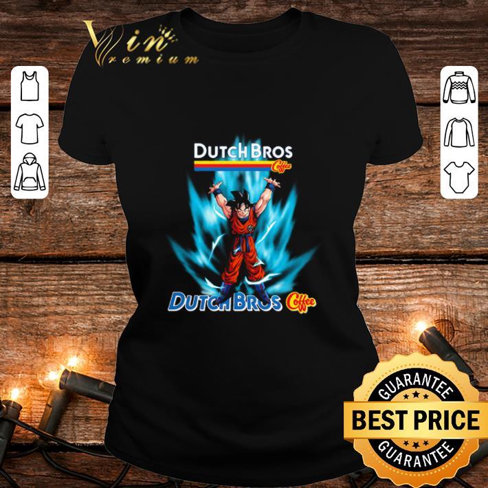 Son Goku Mashup Dutch Bros Coffee Genki Dama Shirt, Hoodie