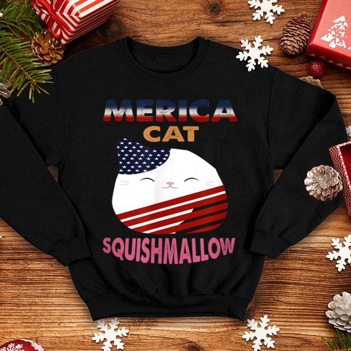 Squishmallow Cat Retro Usa Merica Flag 4th Of July shirt