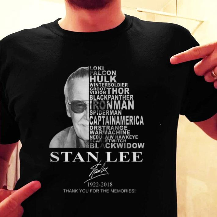 Stan Lee 1922-2018 thank you for the memories Loki Hulk Thor shirt