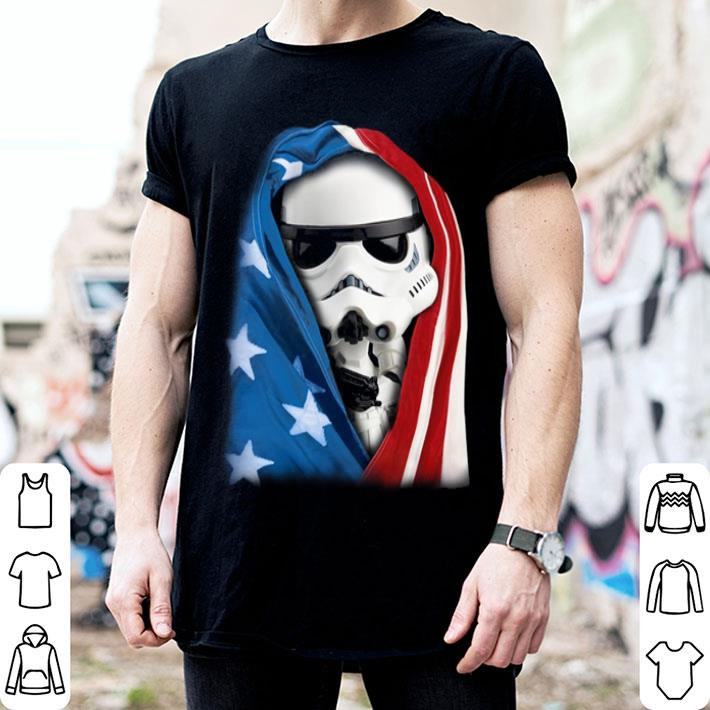 Storm Trooper Star War wearing US flag shirt