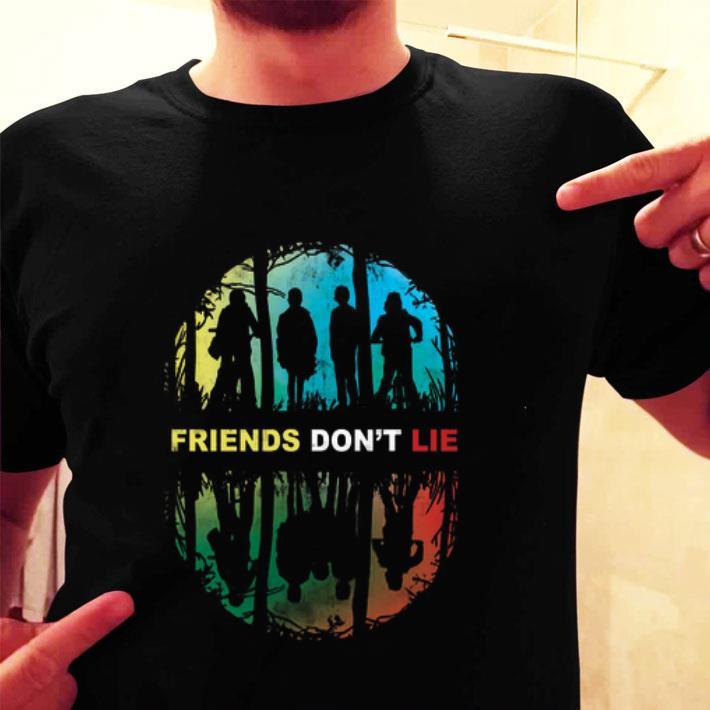 Stranger Things Friends don't lie shirt