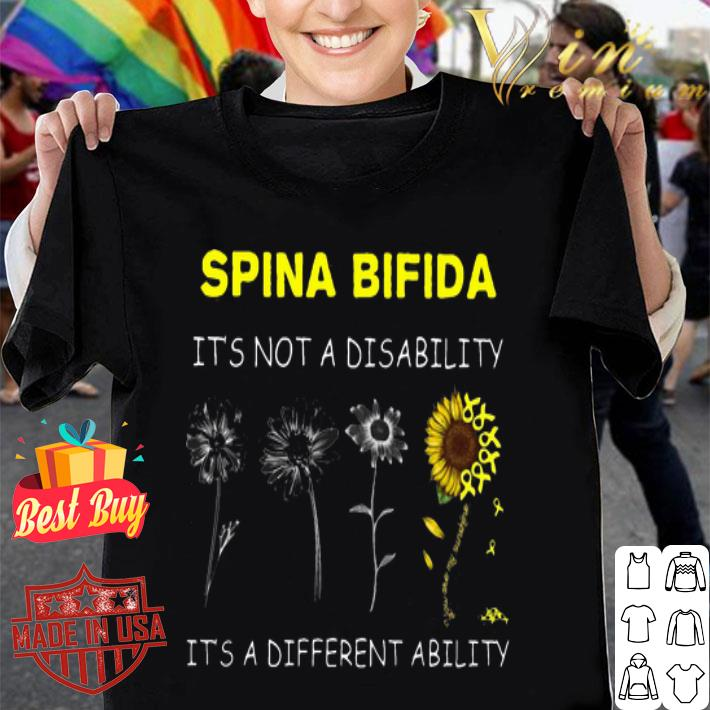 Sunflower Spina bifida it's not a disability it's a different ability shirt