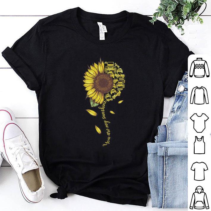 Sunflower You are my sunshine Jeep cars shirt 1