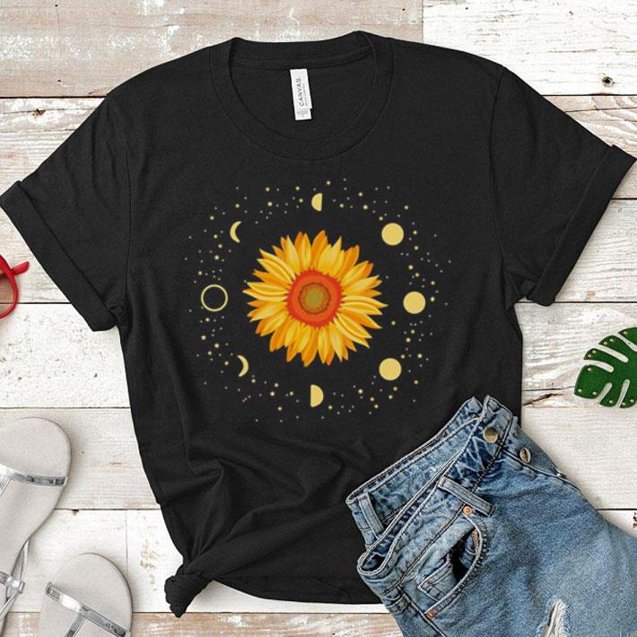 Sunflower and period moon cycle shirt