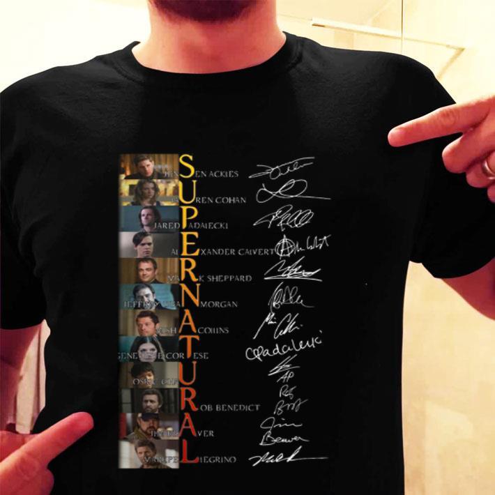 Supernatural Jensen Ackles Lauren Cohan Signatures shirt