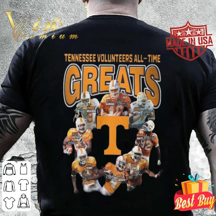 Tennessee Volunteers all-time greats signatures shirt