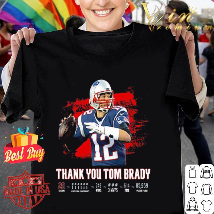 Thank You Tom Brady Patriots Football 2020 shirt