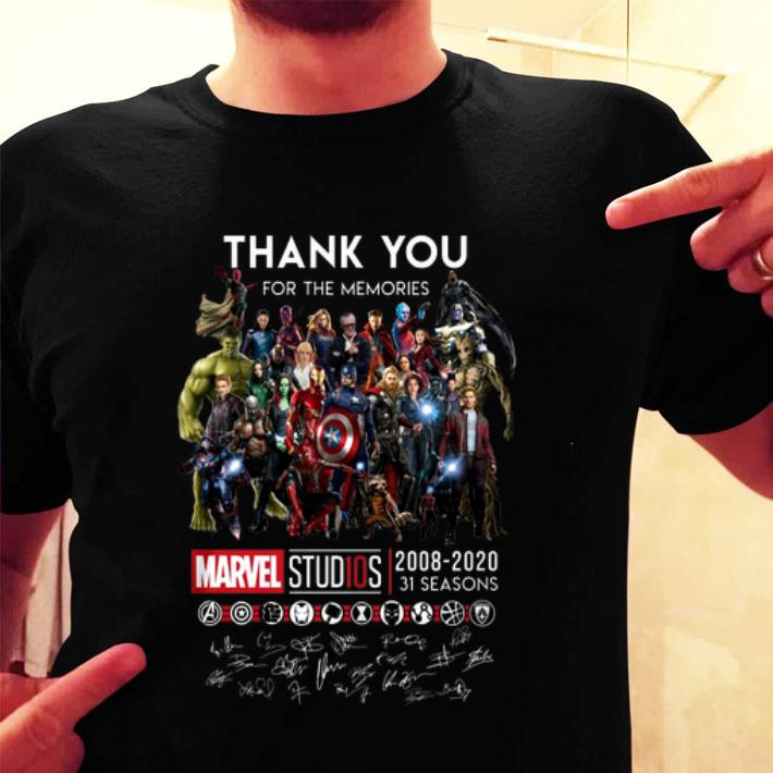 Thank you for the memories Marvel Studios 2008-2020 signatures shirt