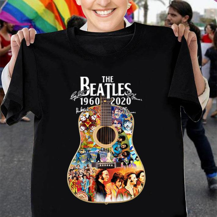 The Beatles guitar 1960 2020 signatures shirt