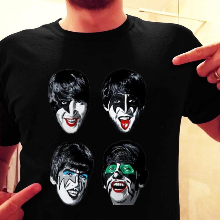 The Beatles kiss shirt