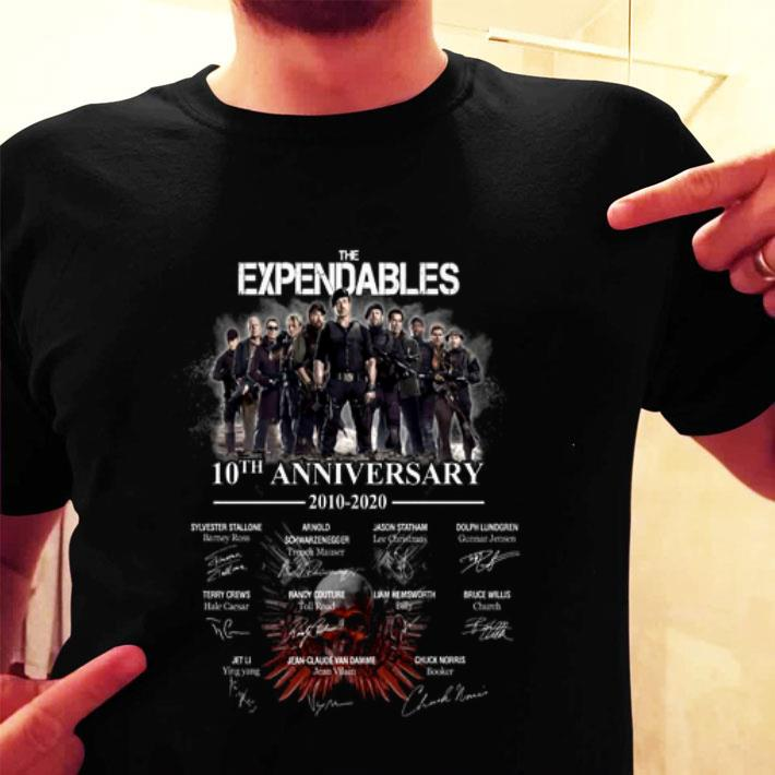 The Expendables 10th Anniversary 2010-2020 Signatures shirt