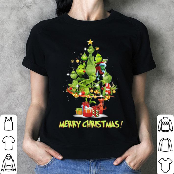 The Grinch Merry Christmas tree shirt