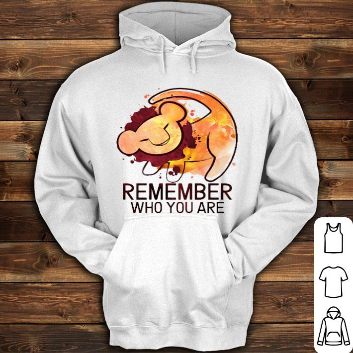 The Lion King Remember Who You Are Shirt Hoodie Sweater Longsleeve T Shirt