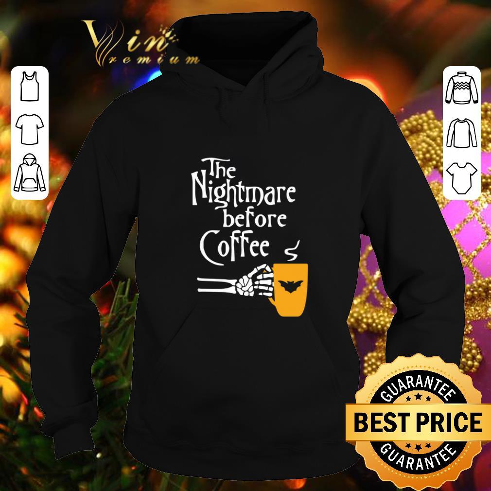 The Nightmare Before Coffee logo Batman shirt