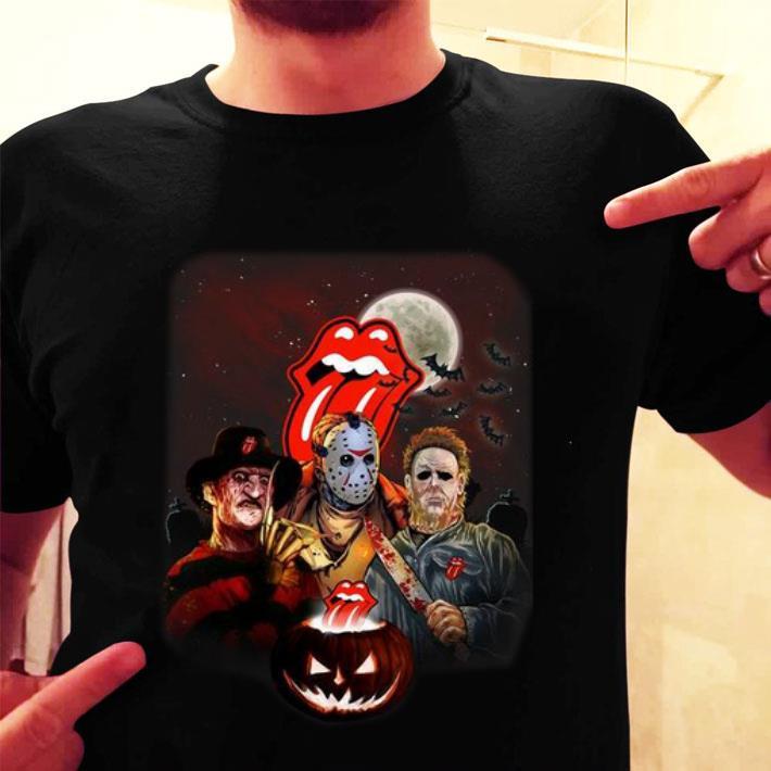 The Rolling Stones horror film characters pumpkin Halloween shirt