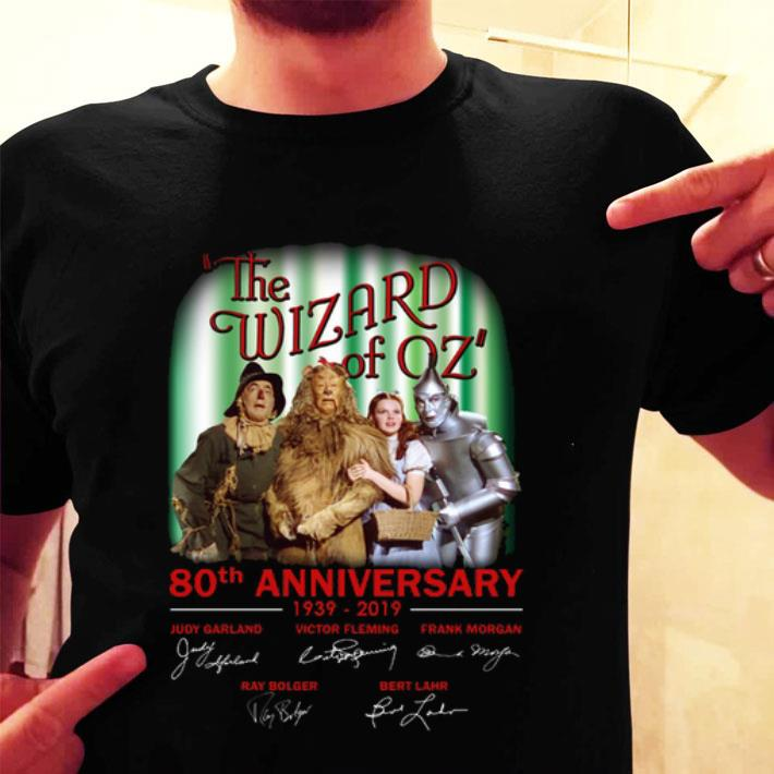 The Wizard of Oz 80th anniversary 1939-2019 signatures shirt