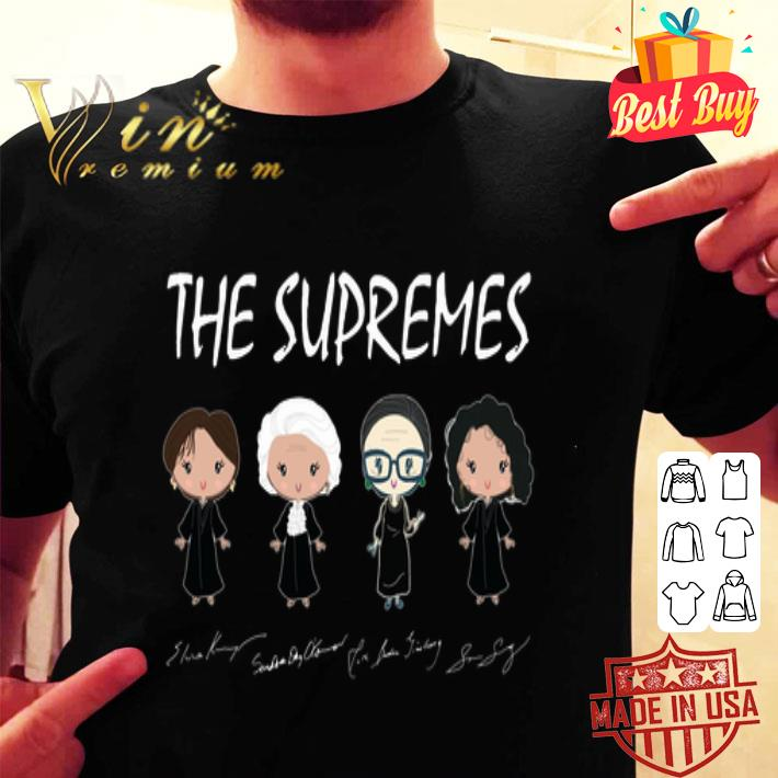 The supremes Ruth Bader Ginsburg signatures shirt