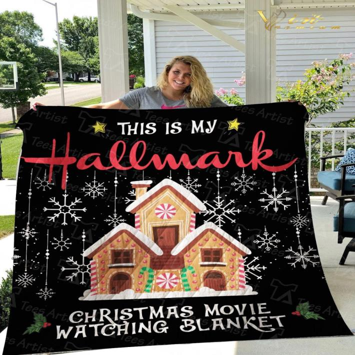 This is my Hallmark Christmas movie watching blanket quilt