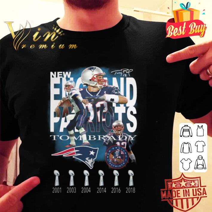 Tom Brady New England Patriots 6 cups signature shirt