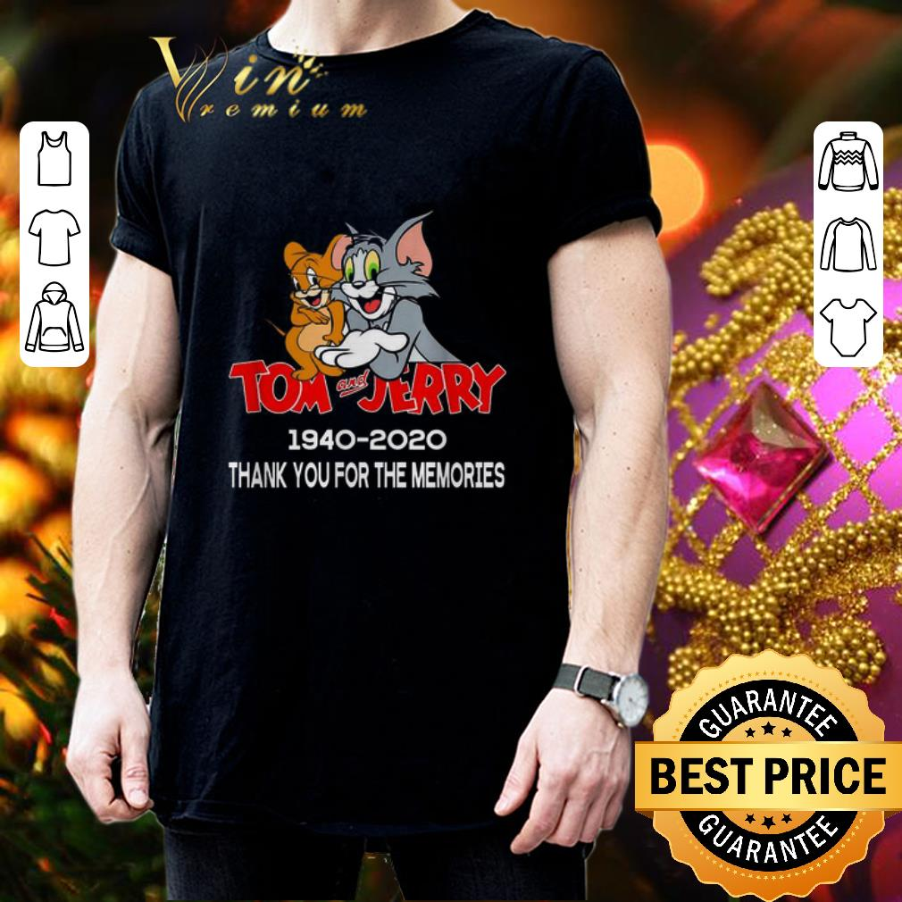Tom And Jerry Christmas Tree: Tom And Jerry 1940-2020 Thank You For The Memories Shirt