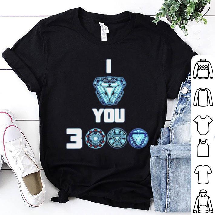 Tony Stark Arc Reactor I love you 3000 times Morgan Stark shirt 1