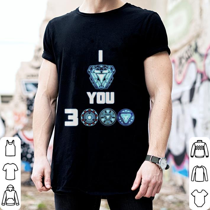 Tony Stark Arc Reactor I love you 3000 times Morgan Stark shirt 2