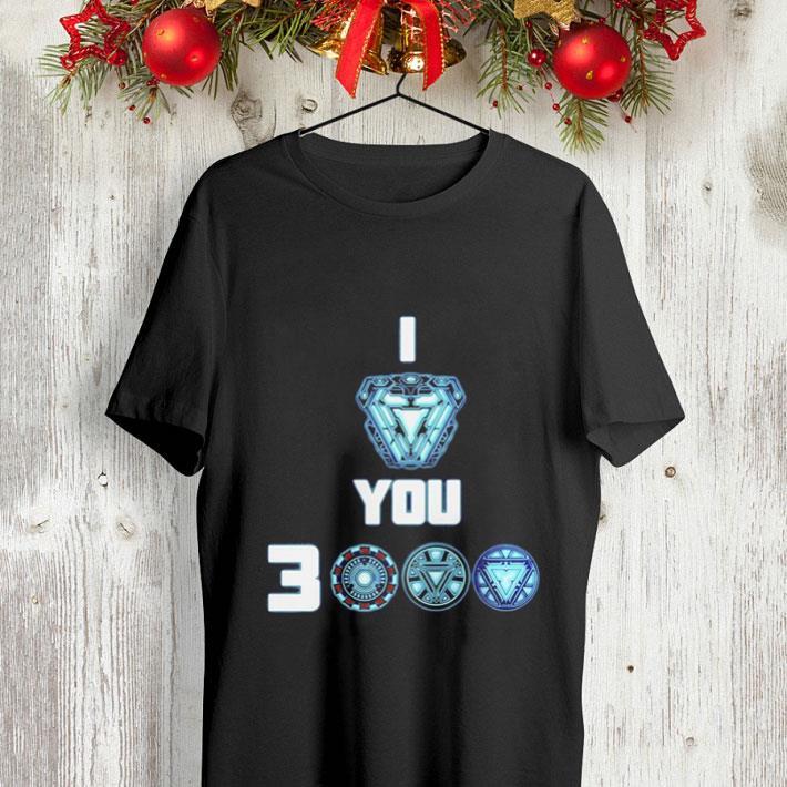 Tony Stark Arc Reactor I love you 3000 times Morgan Stark shirt