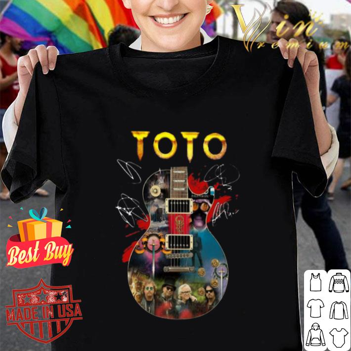 Toto Guitarist signatures shirt