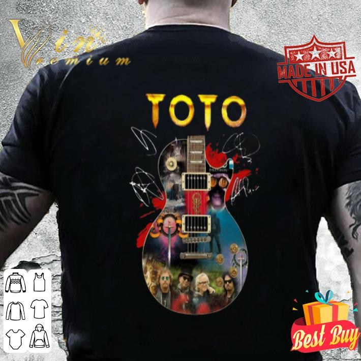 Toto Guitarist signatures shirt