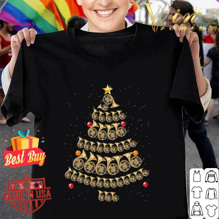 Trumpet Horn Christmas tree shirt