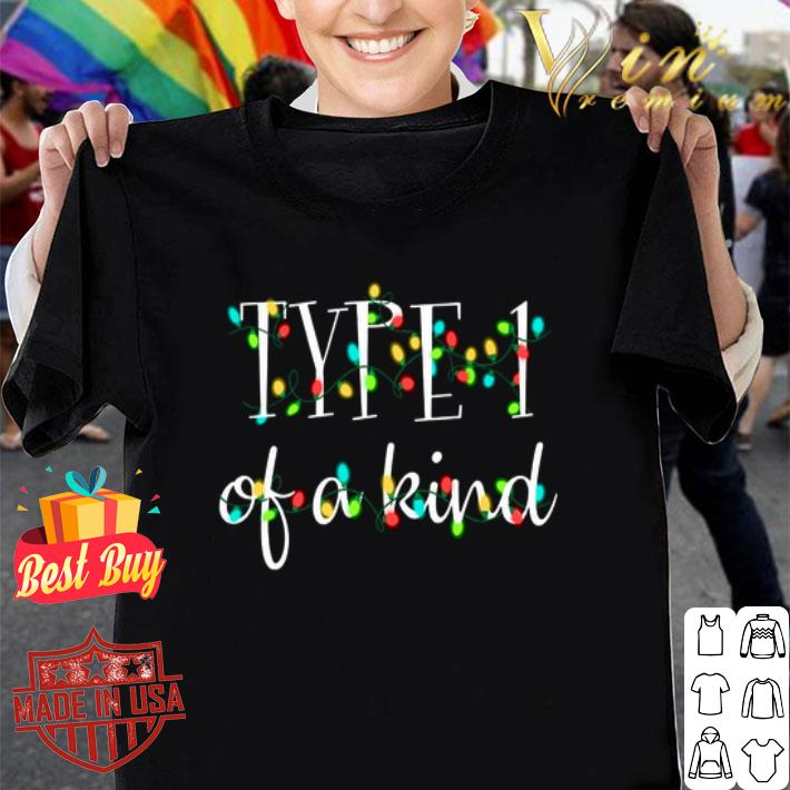 Type 1 of a kind Christmas lights shirt