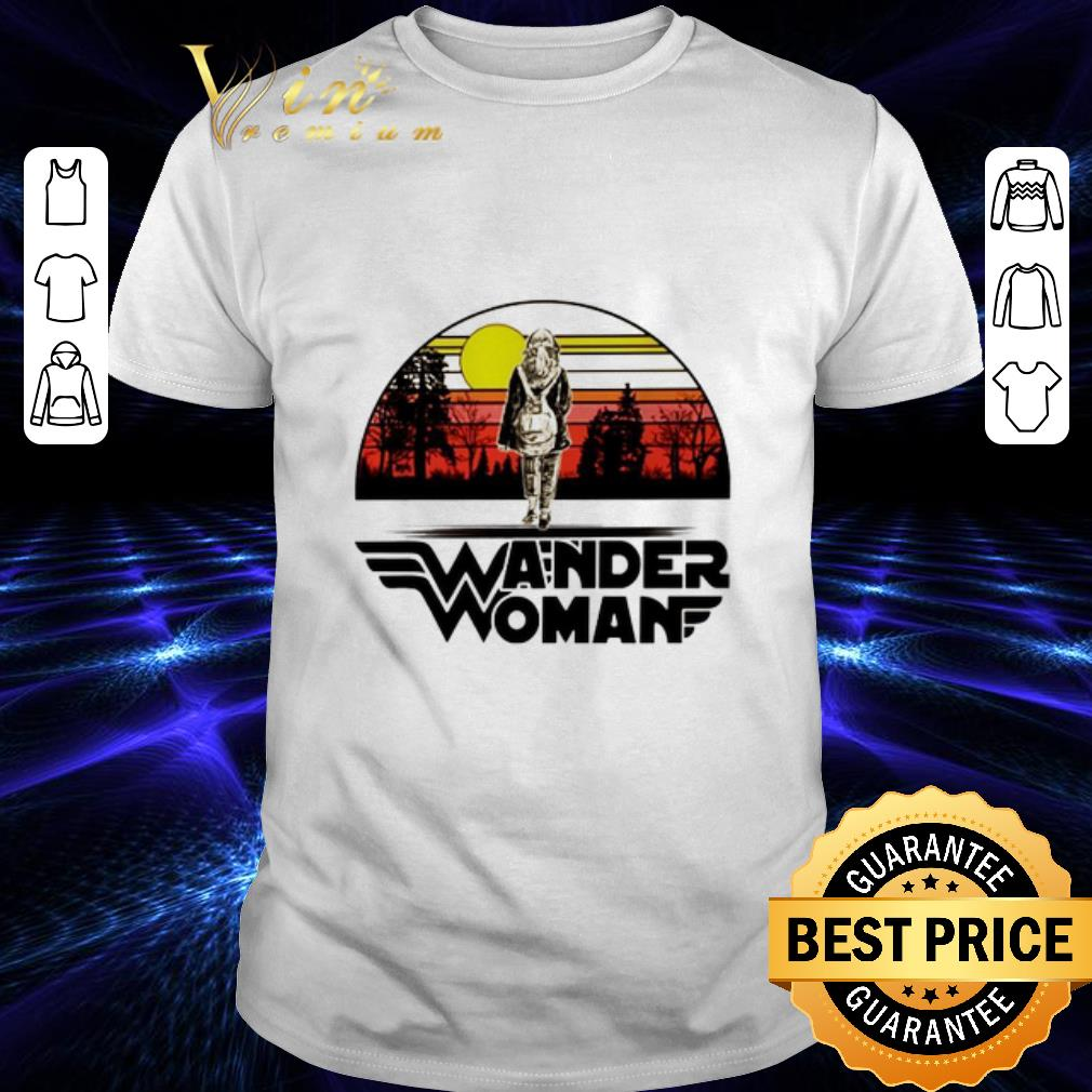 Wander woman logo sunset shirt