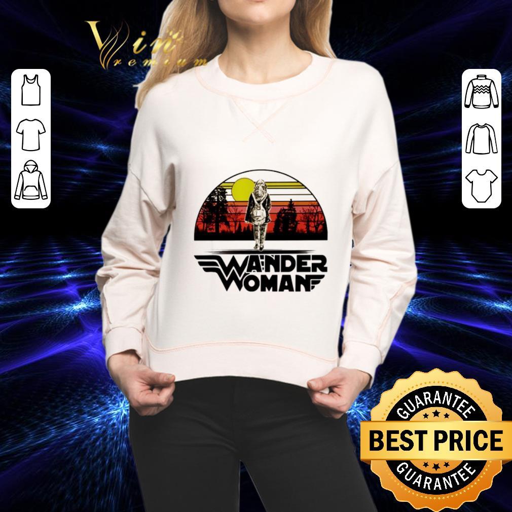 Wander woman logo sunset shirt 2