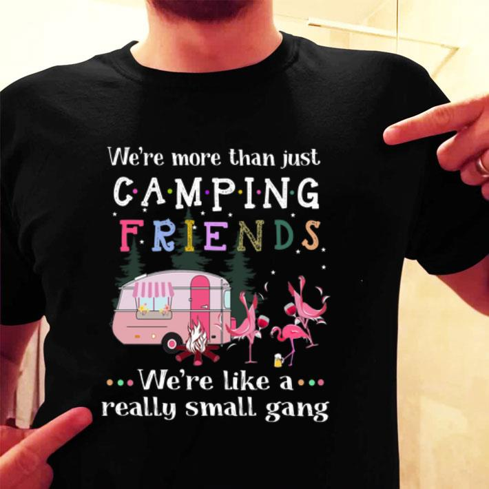 We're more than just camping friends we're like a really small gang Flamingos shirt