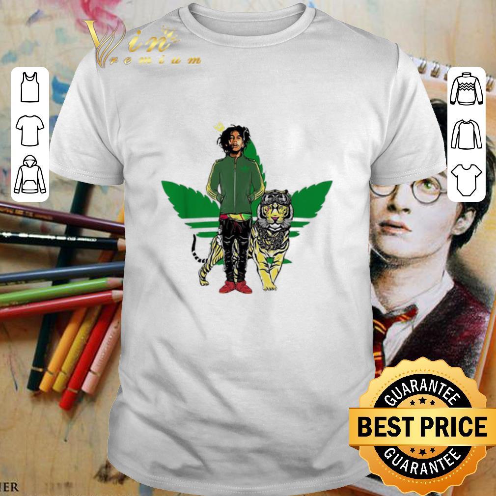 Weed Adidas Bob Marley Iron Lion Zion shirt
