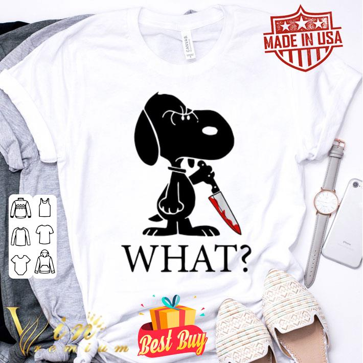 What Murderous Snoopy With Knife shirt